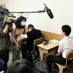 市駅教場でテレビ愛媛の取材がありました!